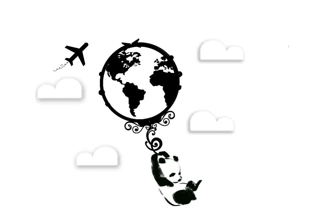 Un panda tra le nuvole